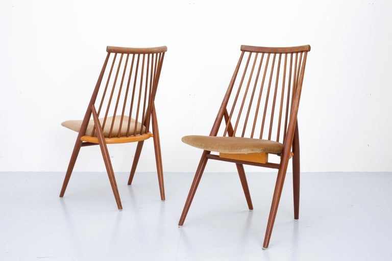 Set of 4 'Flamingo' Chairs by Thea Leonard for Nassjo Stolefrabrik, Sweden, 1960 In Good Condition For Sale In Amsterdam, NL