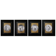 """Set of 4 Framed Drawings """"From The Series Danzar and Ronda"""""""