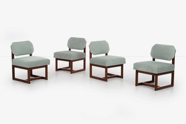 Mid-Century Modern Set of 4 Frank Lloyd Wright Taliesin Dining Chairs