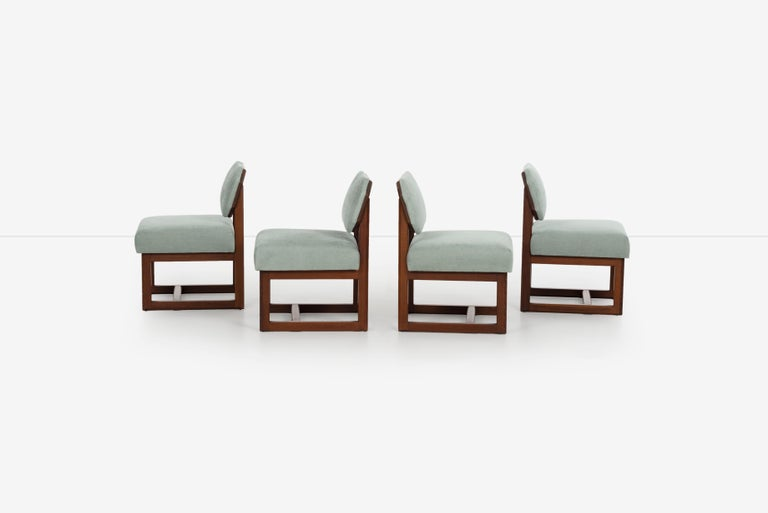 American Set of 4 Frank Lloyd Wright Taliesin Dining Chairs