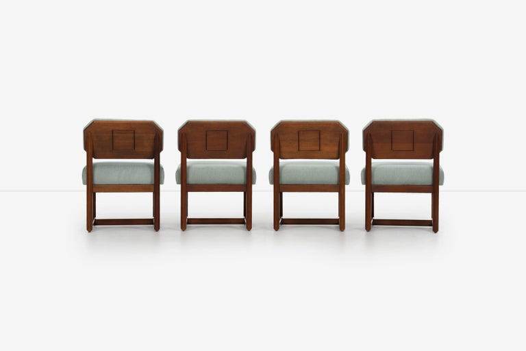 Mid-20th Century Set of 4 Frank Lloyd Wright Taliesin Dining Chairs