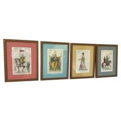 Set of 4 French 1880s Royal Prints