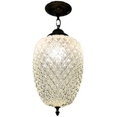 Set of 4 French Molded Glass Light Fixtures