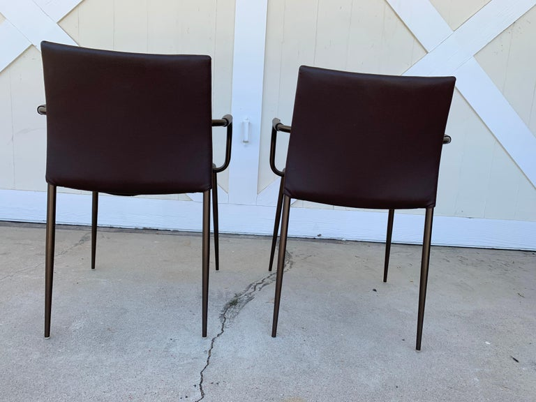 Set of 4 Gazzella Armchairs by Tom Kelley for Enrico Pellizzoni For Sale 3