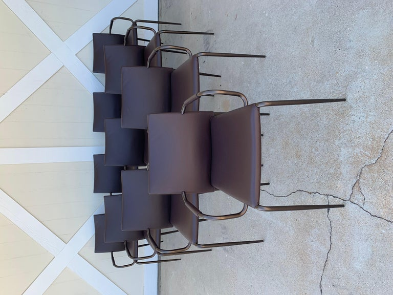 Set of 4 Gazzella Armchairs by Tom Kelley for Enrico Pellizzoni For Sale 5
