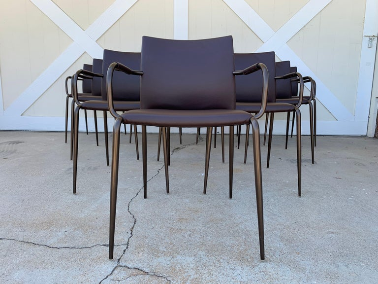 Set of 4 Gazzella Armchairs by Tom Kelley for Enrico Pellizzoni For Sale 6