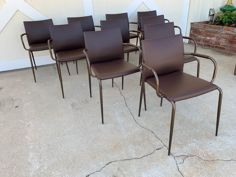 Set of 4 Gazzella Armchairs by Tom Kelley for Enrico Pellizzoni For Sale 7