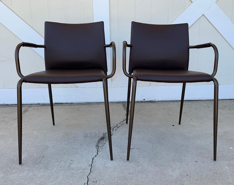 Set of 4 Gazzella Armchairs by Tom Kelley for Enrico Pellizzoni For Sale 13