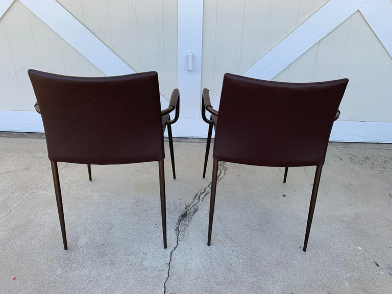 Contemporary Set of 4 Gazzella Armchairs by Tom Kelley for Enrico Pellizzoni For Sale