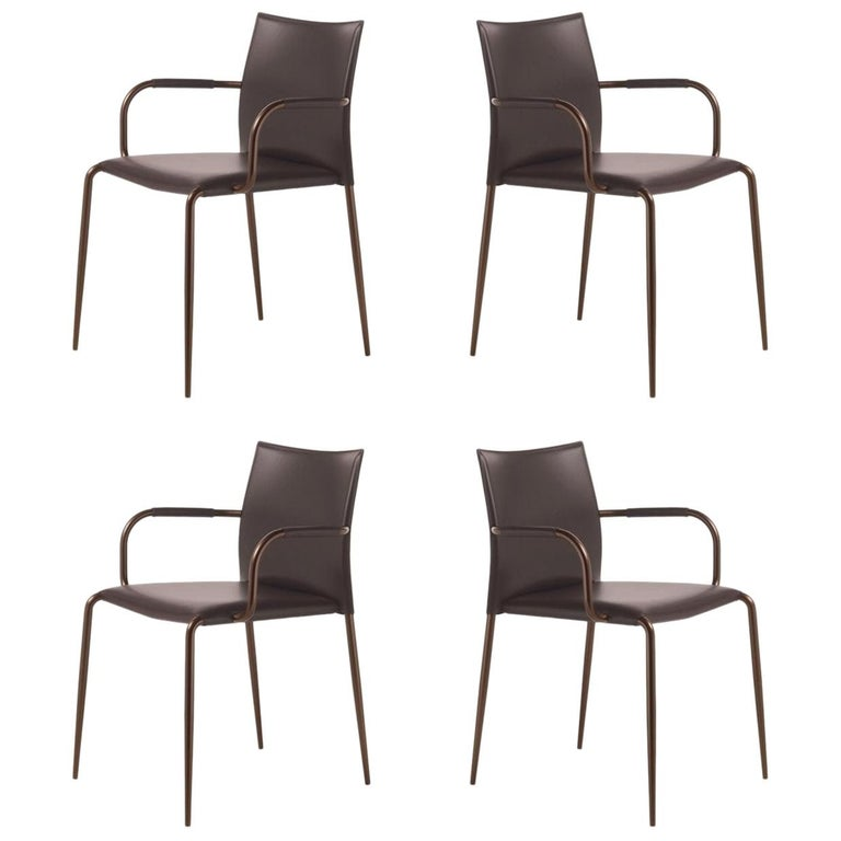 Set of 4 Gazzella Armchairs by Tom Kelley for Enrico Pellizzoni For Sale