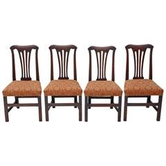 Set of 4 Georgian Oak Dining Chairs