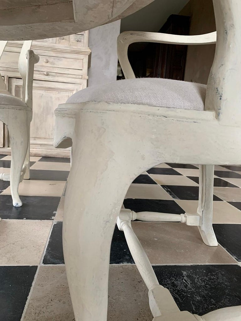 Set of 4 Gustavian Style Armchairs In New Condition For Sale In Vosselaar, BE