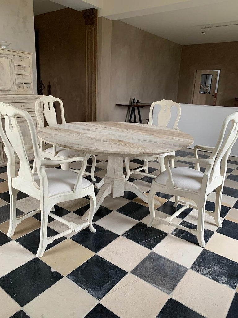 Set of 4 Gustavian Style Armchairs For Sale 1