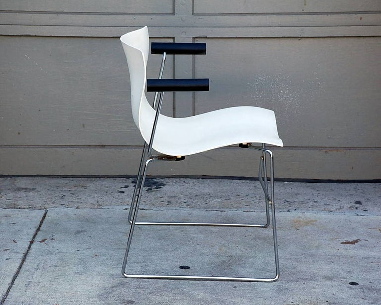 Set of 4 Handkerchief Armchairs by Massimo Vignelli for Knoll In Excellent Condition For Sale In Los Angeles, CA