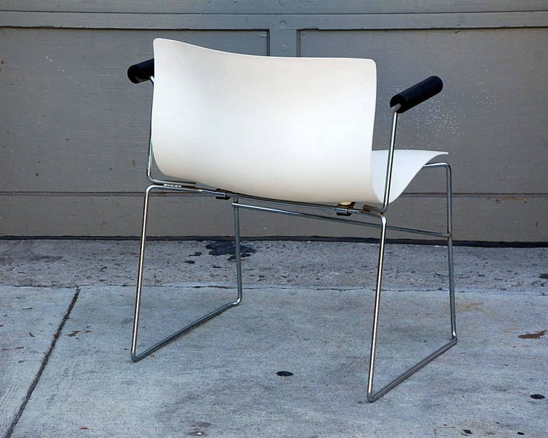 Late 20th Century Set of 4 Handkerchief Armchairs by Massimo Vignelli for Knoll For Sale
