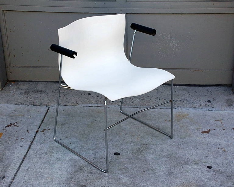 Set of 4 Handkerchief Armchairs by Massimo Vignelli for Knoll For Sale 1