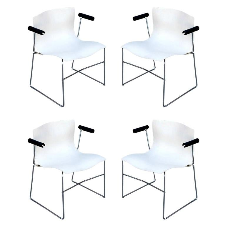 Set of 4 Handkerchief Armchairs by Massimo Vignelli for Knoll