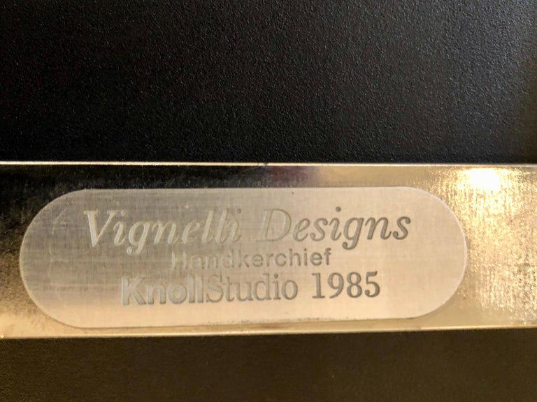 Set of 4 Handkerchief Chairs in Black & Chrome Designed by Vignelli for Knoll In Good Condition For Sale In San Diego, CA