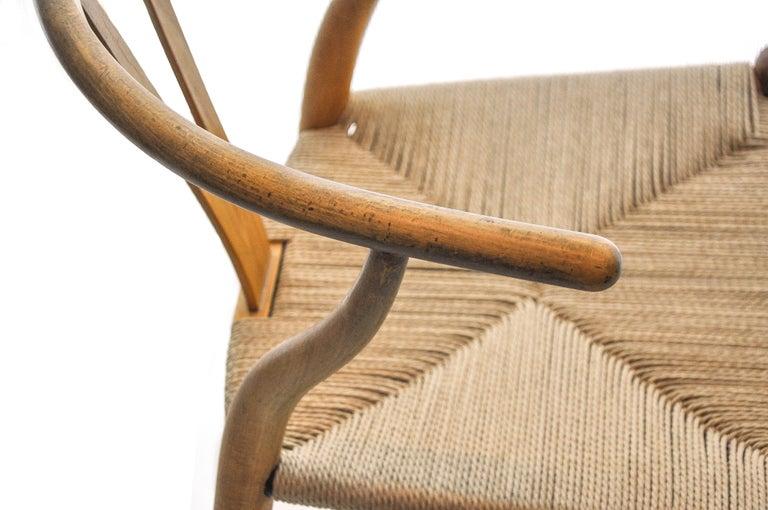 Mid-20th Century Set of 4 Hans Wegner CH24 Wishbone Chairs for Carl Hansen For Sale