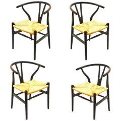 Set aus 4 Hans Wegner Wünschelruten-Stühle für Carl Hansen & Son