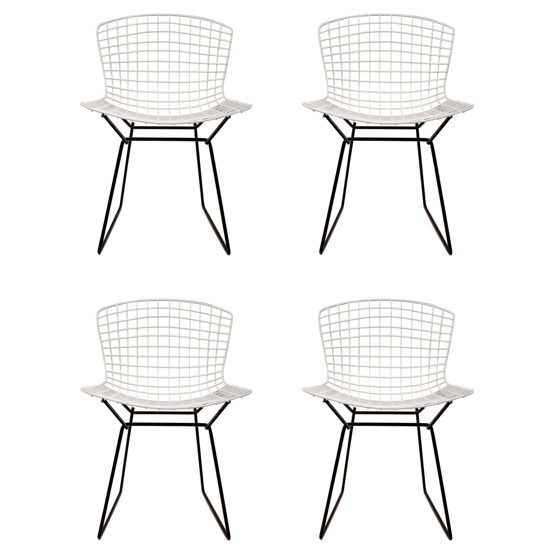 Set of 4 Harry Bertoia for Knoll Vintage Side Chairs