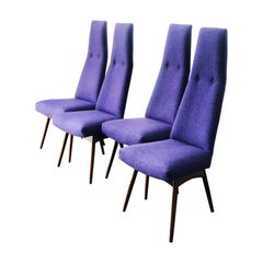 Set of 4 High-Back Sculptural Dining Chairs by Adrian Pearsall for Craft Assocs