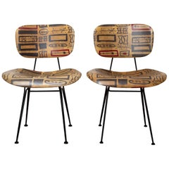Set of 4 Hobart Wells Chairs, 1950s