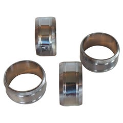 Set of '4' Hotel Silver Hand-made Napkin Rings