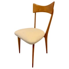 Set of 4 Ico Parisi Bow Tie Dining Chairs Italian