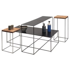 Set of 4 Irony Small End and Side Tables