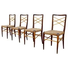 Set of 4 Italian 1950s Dining Chairs Paolo Buffa