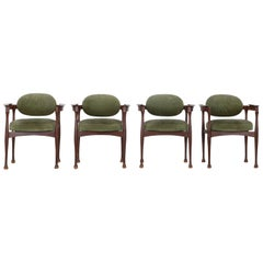 Set of 4 Italian 1960s Armchairs