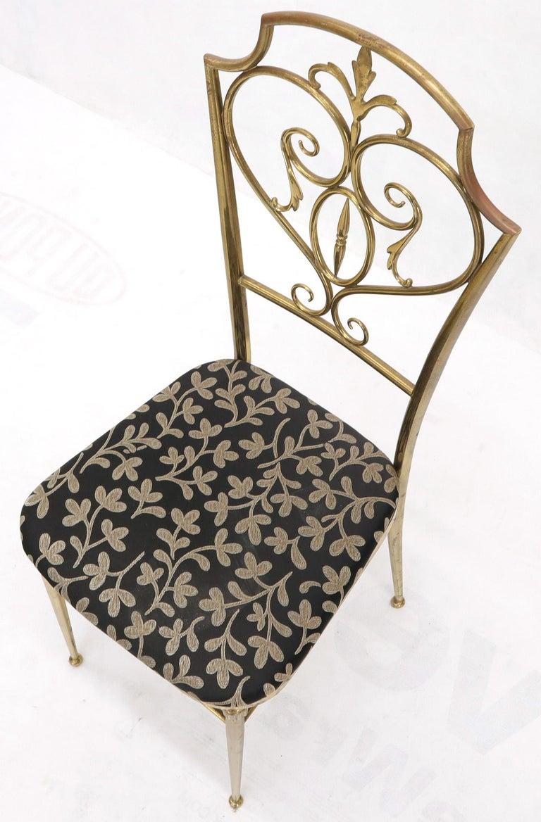 Set of 4 Italian Mid-Century Modern Chiavari Brass Chairs For Sale 7