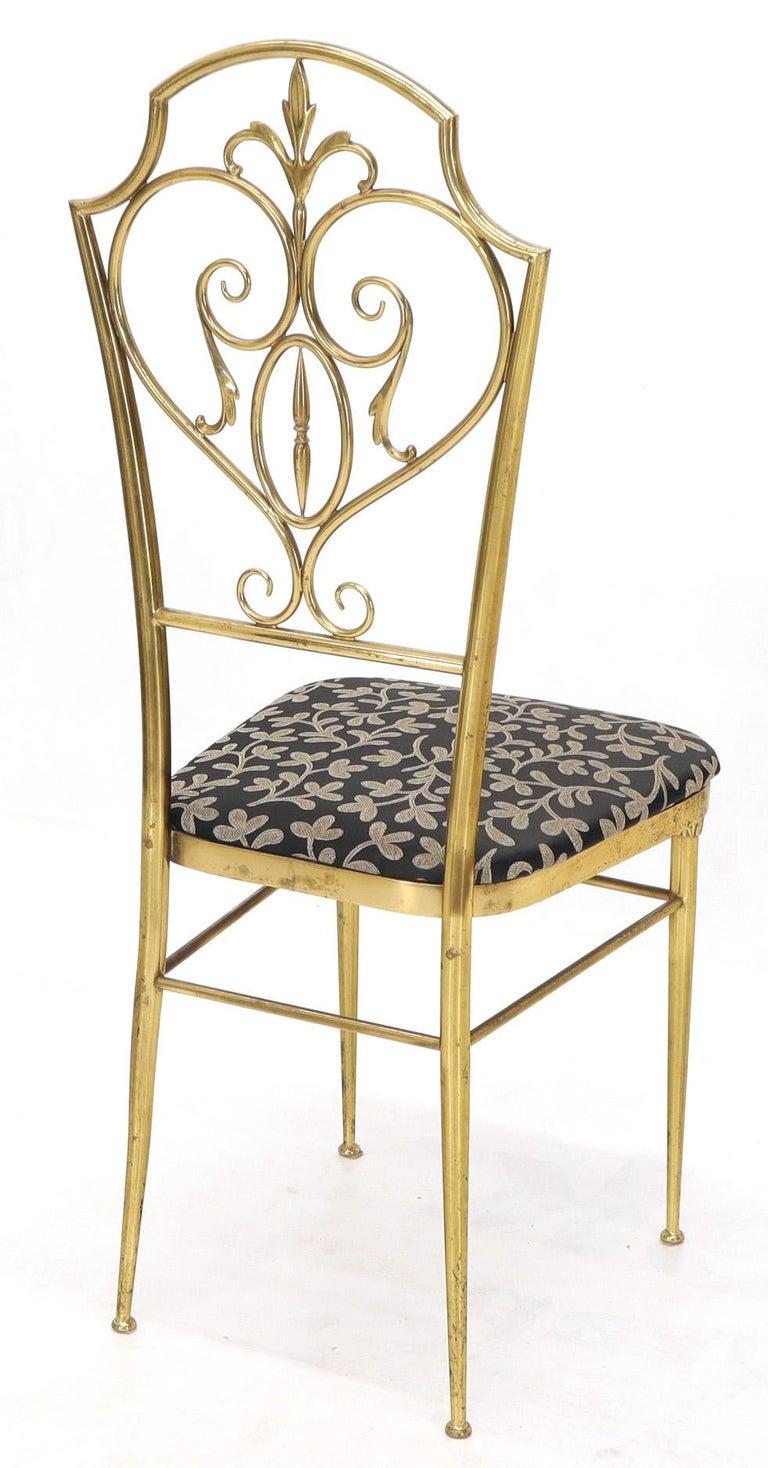 Set of 4 Italian Mid-Century Modern Chiavari Brass Chairs For Sale 2