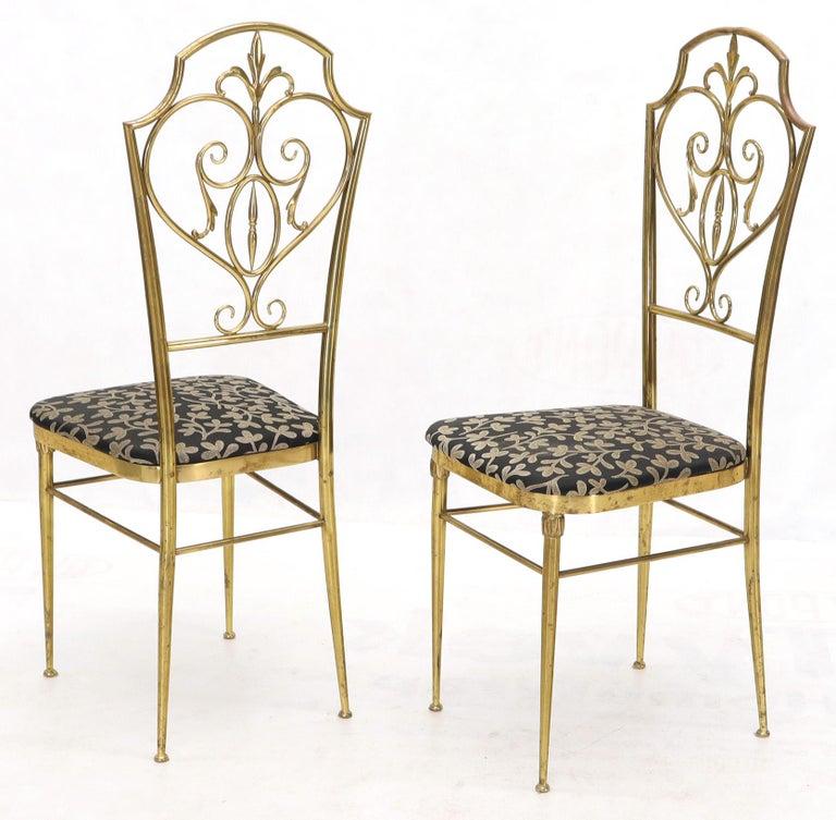 Set of 4 Italian Mid-Century Modern Chiavari Brass Chairs For Sale 4