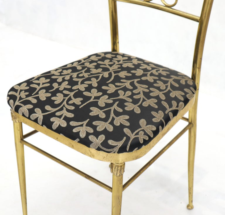 Set of 4 Italian Mid-Century Modern Chiavari Brass Chairs For Sale 5