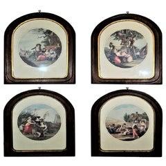 Set of 4 Italian Prints Depicting the Summer Harvest Months