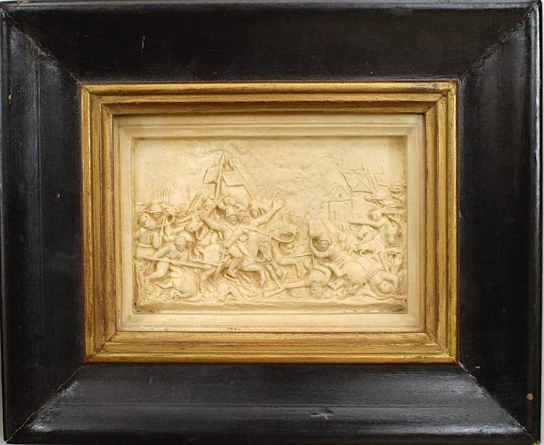 Set of 4 Italian Renaissance Style Carved Soapstone Wall Plaques In Good Condition For Sale In New York, NY