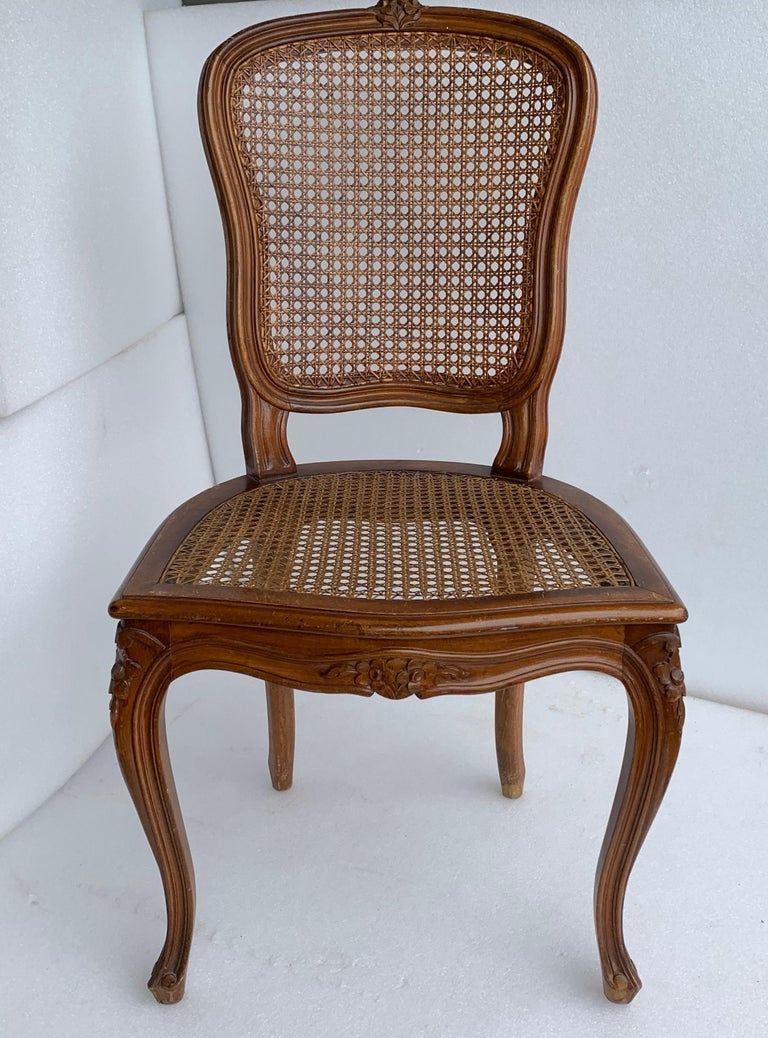 Set of 4 Italian Rococo Style Dining Room Chairs For Sale 5