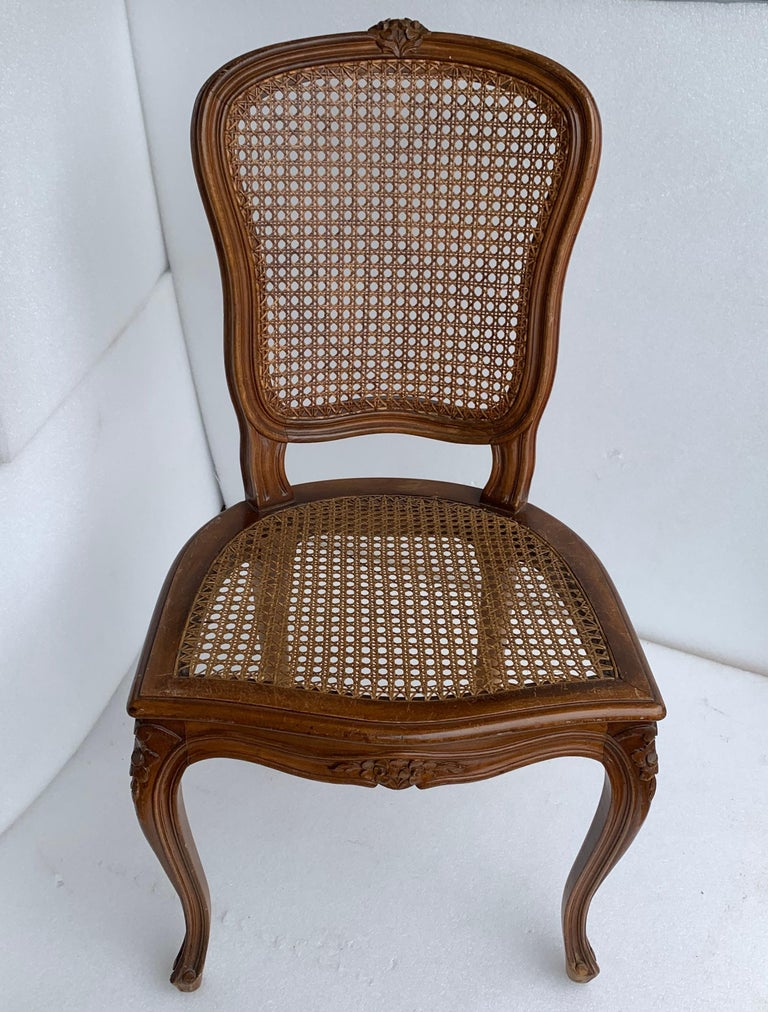 Set of 4 Italian Rococo Style Dining Room Chairs For Sale 6