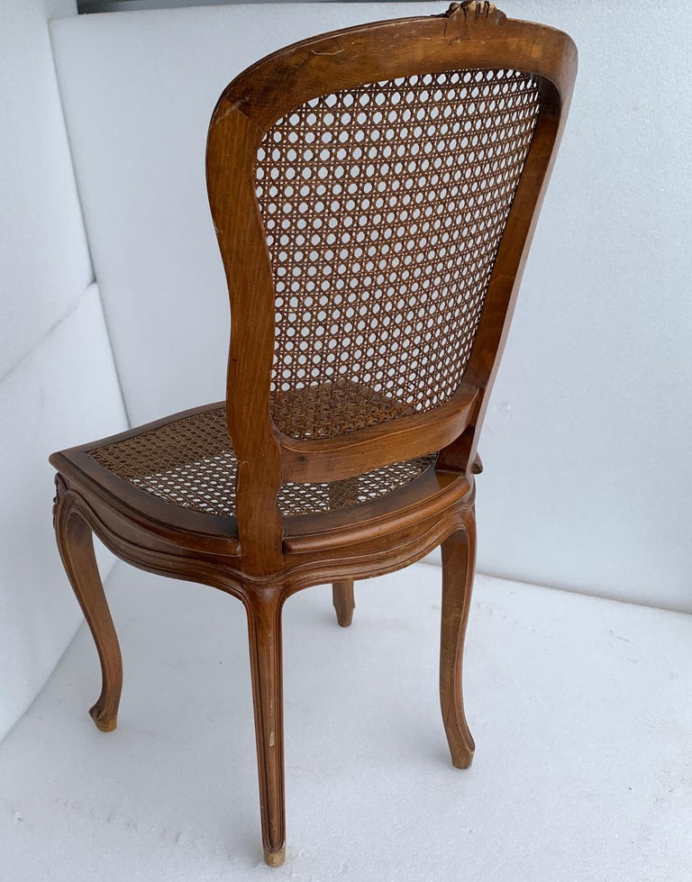 Set of 4 Italian Rococo Style Dining Room Chairs For Sale 8