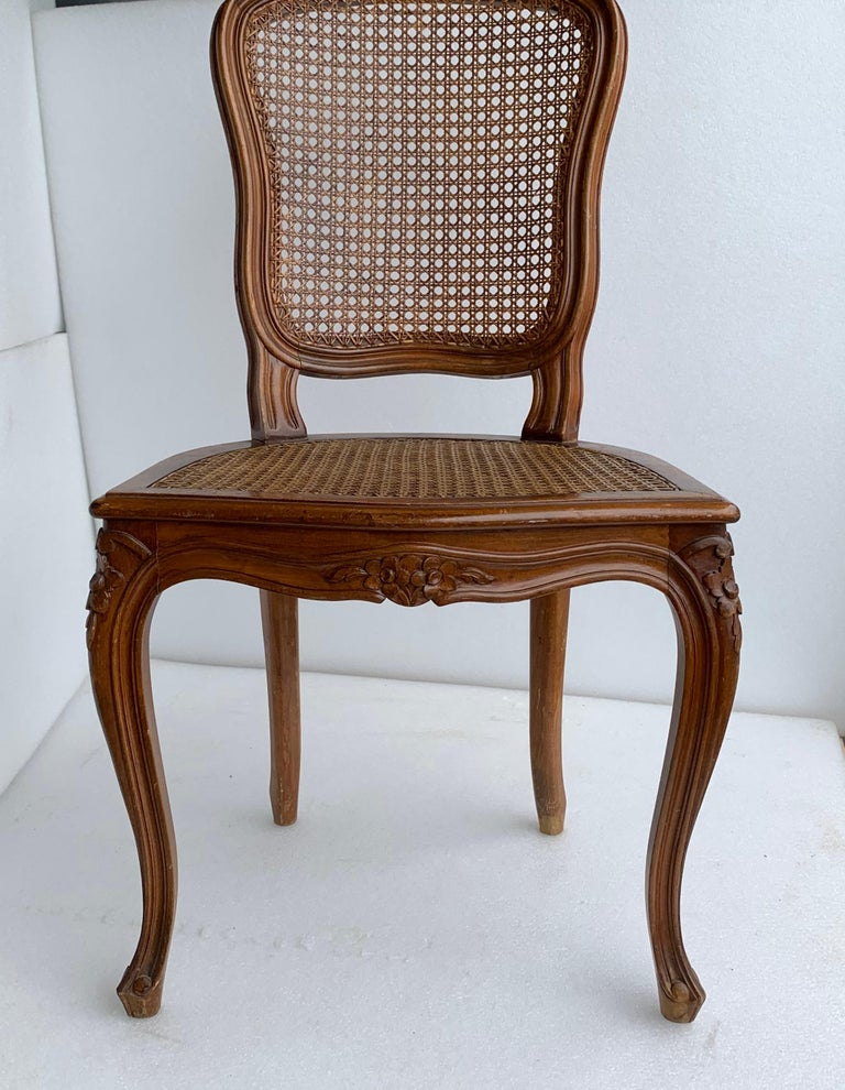 Set of 4 Italian Rococo Style Dining Room Chairs For Sale 9