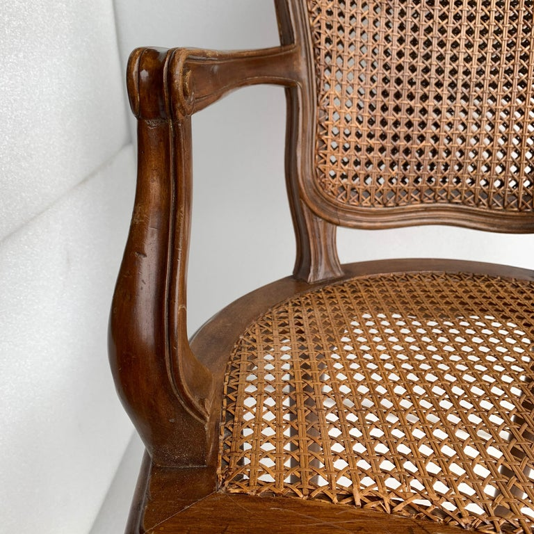 Set of 4 Italian Rococo Style Dining Room Chairs For Sale 11