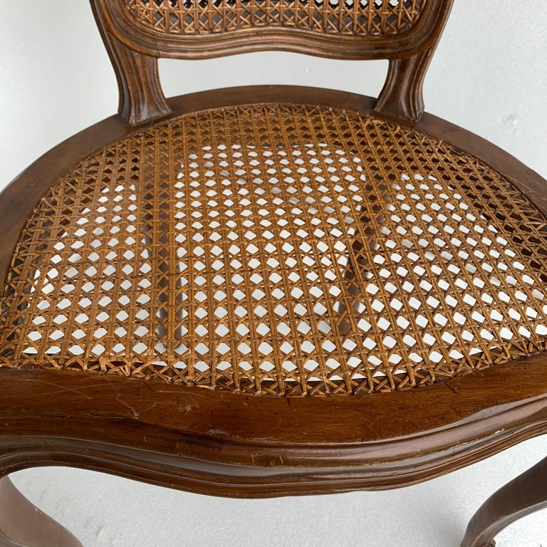 Set of 4 Italian Rococo Style Dining Room Chairs For Sale 12