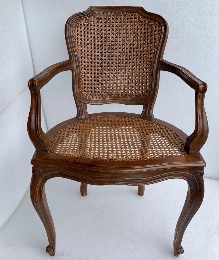 Set of 4 Italian Rococo Style Dining Room Chairs For Sale 1