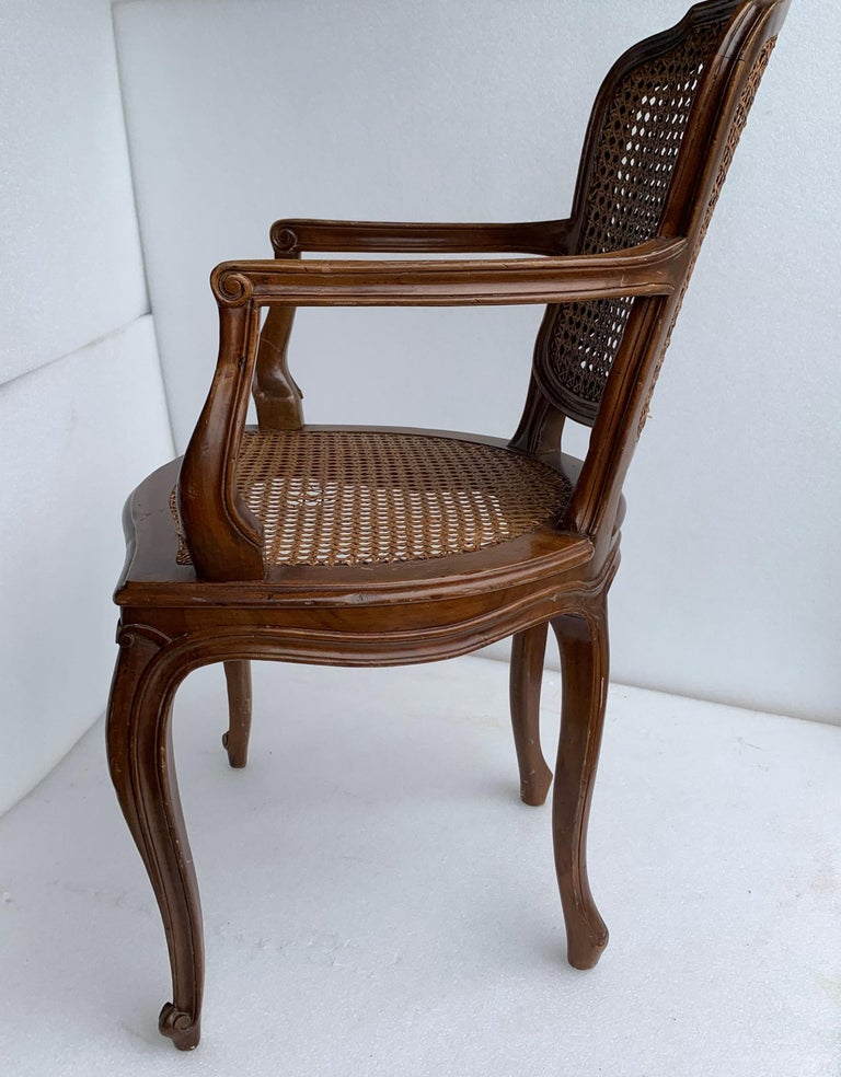Set of 4 Italian Rococo Style Dining Room Chairs For Sale 2