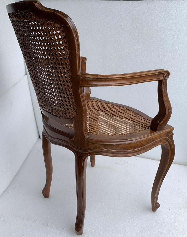 Set of 4 Italian Rococo Style Dining Room Chairs For Sale 4