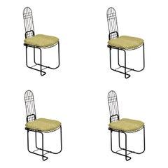 Set of 4 Italian Steel Chairs