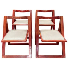 "Set of 4 Jacober & d'Aniello ""Trieste"" Folding Chairs for Bazzani, 1966, Italy"