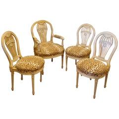 Set of 4 Jansen Style Balloon Back Chairs